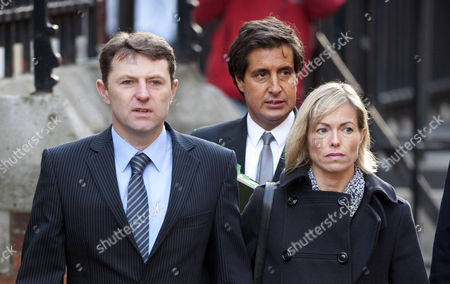 Gerry And Kate Mccann Arrive At The Royal Courts Of Justice London For The Leveson Inquiry Into Press Practices Followed By Solicitor David Sherborne.