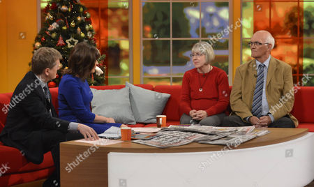 Aled Jones and Lorraine Kelly with Gill and Jeff Thacker