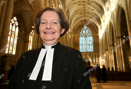 Editorial photo of The Very Reverend Vivienne Faull, The Dean of York, at York Minster, York, Britain - Dec 2012