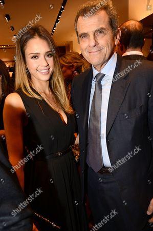 Jessica Alba and Ferruccio Ferragamo