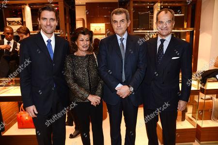 James Ferragamo, Fulvia Visconti Ferragamo, Ferruccio Ferragamo and Leonardo Ferragamo