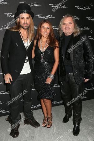 Stock Photo of David Garrett, Luz Enith Sabo and Thomas Sabo