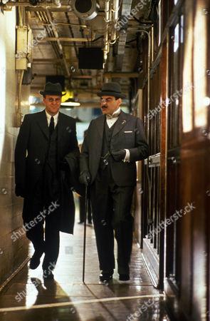Ian Gelder as Victor Astwell and David Suchet as Hercule Poirot
