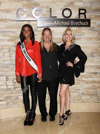 Michael Boychuck, Shanna Moakler, Miss Universe Leila Lopes