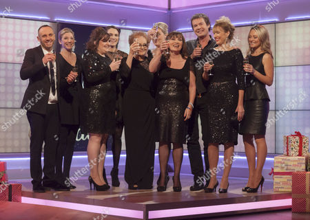 Lorraine Kelly with Little Black Dress Finale...  Mark Heyes, Sarah Jagger and Richard Ward.   Jane Wake, Tabitha Somerset-Webb and Lisa Faulkner