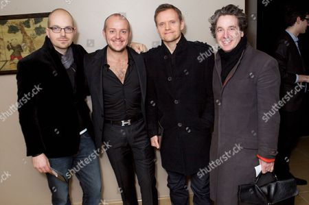 Stock Photo of Lex James, Lincoln Townley, Marc Warren and Peter Hughes