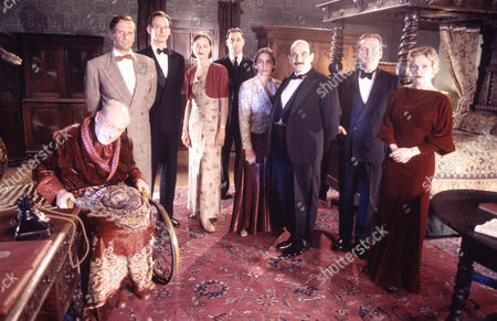 Vernon Dobtcheff as Simeon Lee, Brian Gwaspari as Harry, Simon Roberts as Alfred, Catherine Rabett as Lydia, Ayub Khan-Din as Horbury, Sasha Behar as Pilar, David Suchet as Hercule Poirot, Eric Carte as George and Andree Bernard as Magdalene