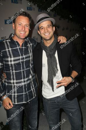 Stock Picture of Chris Harrison and Mark Ballas Jr.