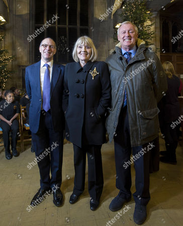 Stock Picture of Lloyd Grossman, Dame Diana Rigg and Chris Tarrant