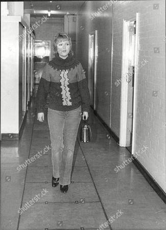 Cheryl Murray Actress At Granada Tv Studios 1979.