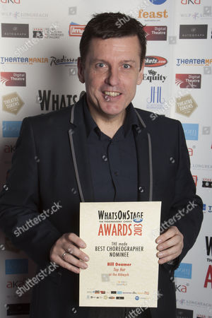Bill Deamer with the nomination for Best Choreographer for Top Hat