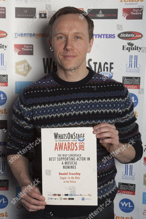 Daniel Crossley with the nomination for Best Supporting Actor in a Musical for Singin' in the Rain