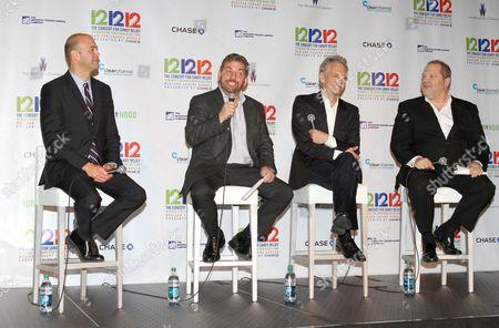 David Saltzman, James Dolan, John Sykes and Harvey Weinstein