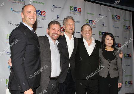 Stock Image of David Saltzman, James Dolan, John Sykes, Harvey Weinstein and Claire Huang