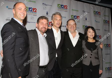 David Saltzman, James Dolan, John Sykes, Harvey Weinstein and Claire Huang