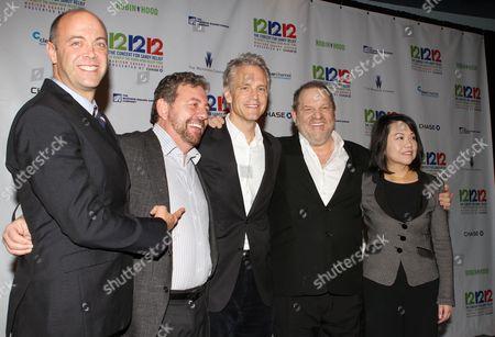Stock Photo of David Saltzman, James Dolan, John Sykes, Harvey Weinstein and Claire Huang