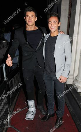 Editorial image of Tom Daley and Leandro Penna at Funky Buddha nightclub, London, Britain - 07 Dec 2012