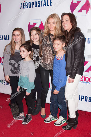Stock Image of Kelly Ripa, daughter Lola Consuelos, son Joaquin Consuelos and friends