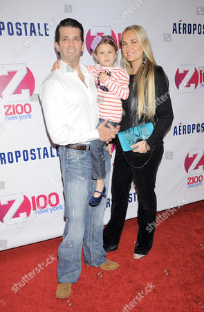 Donald Trump Jr, Kai Madison Trump and Vanessa Haydon Trump