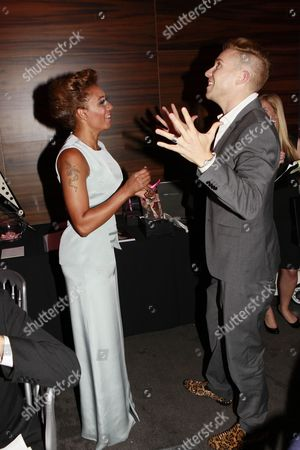 Stock Image of Melanie Brown and Bobby Newberry