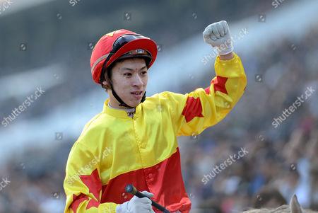 Matthew Chadwick after winning The Longines Hong Kong Cup on California Memory