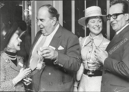Actor Robert Morley (2nd Left) With Molly Weir (left) And Polly Elwes And Cyril Fletcher (right) At The Dorchester Robert Adolph Wilton Morley Cbe (26 May 1908 A 3 June 1992) Was An English Actor Who Often In Supporting Roles Was Usually Cast As A Pompous English Gentleman Representing The Establishment. In Movie Encyclopedia Film Critic Leonard Maltin Describes Morley As 'recognisable By His Ungainly Bulk Bushy Eyebrows Thick Lips And Double Chin [...] Particularly Effective When Cast As A Pompous Windbag'. More Politely Ephraim Katz In His International Film Encyclopaedia Describes Morley As A 'a Rotund Triple-chinned Delightful Character Player Of The British And American Stage And Screen.'.