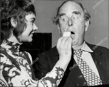 Actor Robert Morley Eating His Birthday Cake On His 62nd Birthday With Actress Heather Sears Robert Adolph Wilton Morley Cbe (26 May 1908 A 3 June 1992) Was An English Actor Who Often In Supporting Roles Was Usually Cast As A Pompous English Gentleman Representing The Establishment. In Movie Encyclopedia Film Critic Leonard Maltin Describes Morley As 'recognisable By His Ungainly Bulk Bushy Eyebrows Thick Lips And Double Chin [...] Particularly Effective When Cast As A Pompous Windbag'. More Politely Ephraim Katz In His International Film Encyclopaedia Describes Morley As A 'a Rotund Triple-chinned Delightful Character Player Of The British And American Stage And Screen.'.