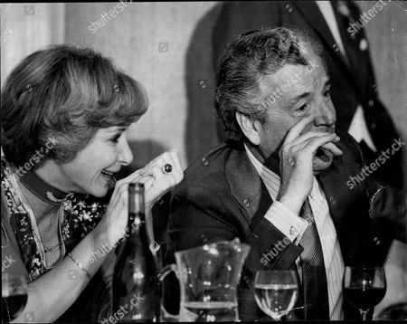 Actor Kenneth More (died 7/82) With His Third Wife Actress Angela Douglas.