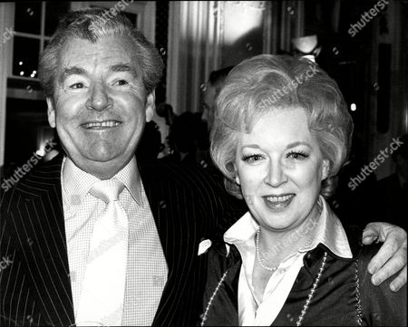 Stock Picture of Actor Kenneth More (died 7/82) With Actress June Whitfield At Stage Centenary Lunch At The Savoy.