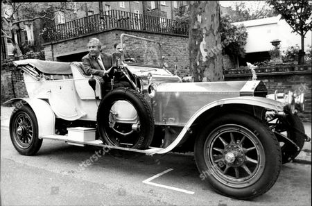Actor Kenneth More (died 7/82) Driving A 1909 Rolls Royce Silver Ghost At The Transport Trust's Cavalcade Of Vintage And Veteran Motorcars.