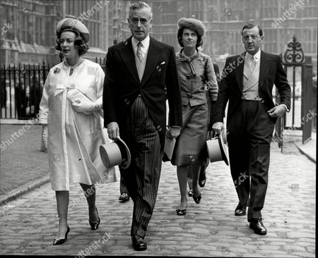 Lord Mountbatten (died 8/79) With Daughters Lady Pamela Hicks And Lady Patricia Brabourne And Lord Brabourne At Wedding Of Princess Alexandra.