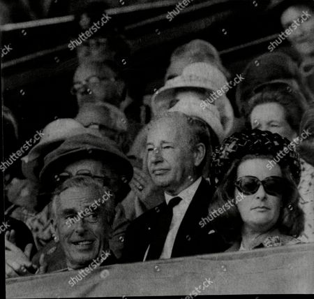 Lord Mountbatten (died 8/79) With His Daughter Lady Pamela Hicks At The 1973 Wimbledon Tennis Championships.
