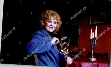 Stock Image of Cheryl Murray Actress At Dining Table 1995.
