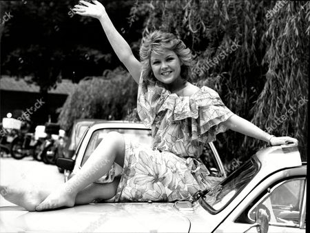 Cheryl Murray Actress Posing On Car Bonnet 1983.