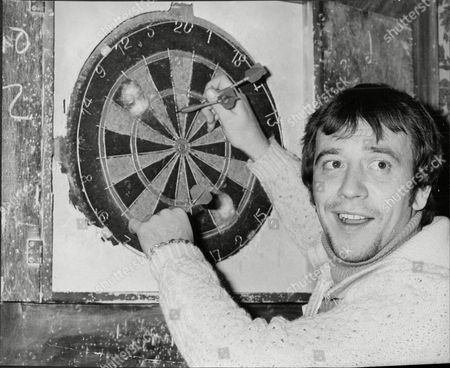 Robin Nedwell (dead February 1999) Actor Playing Darts.