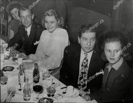Joan Caulfield Sid Field Paricia Neal And Alan Ladd Actors And Actresses No Further Caption.