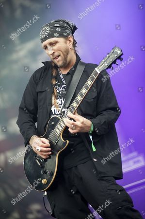 Stock Picture of Leicester United Kingdom - June 12: Bobby Hambel From Biohazard Live Onstage At Download Festival 2011 Donington Park Leicester June 12