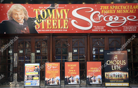 Tommy Steele in Scrooge musical at London Palladium