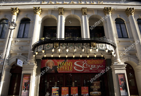 Stock Image of Tommy Steele in Scrooge musical at London Palladium