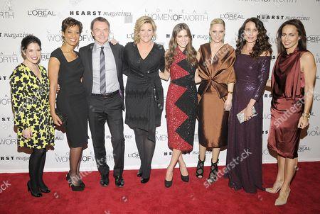 Randi Zuckerberg, Sade Baderinwa, guest, Trisha Yearwood, Allison Williams, Aimee Mullins, Andie MacDowell and guest
