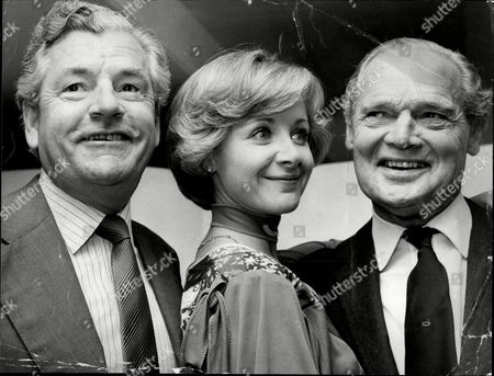 Actor Kenneth More (died 7/82) With His Third Wife Actress Angela Douglas And Wwii Pilot Douglas Bader.