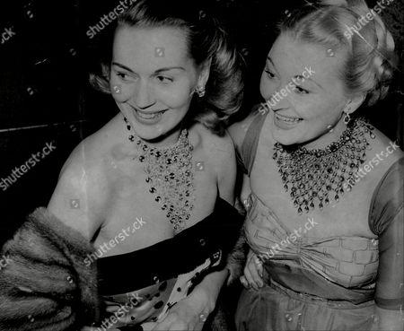 Greta Gynt With Fellow Actress Christine Norden 1950.