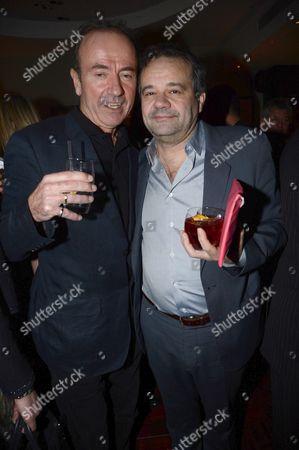 Mark Hix and Hugh Cornwell (l)