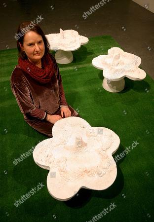 Poet Jo Shapcott with Helen Chadwick's 'Piss Flowers'