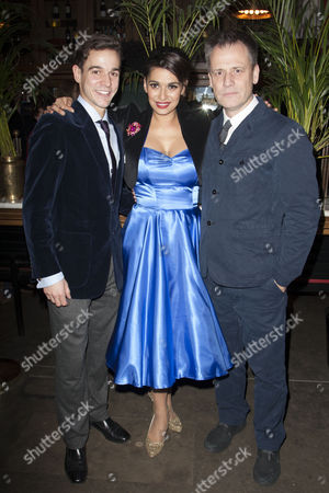 Stock Image of Joseph Timms (Private Steven Flowers), Michael Grandage (Director) and Sophiya Haque