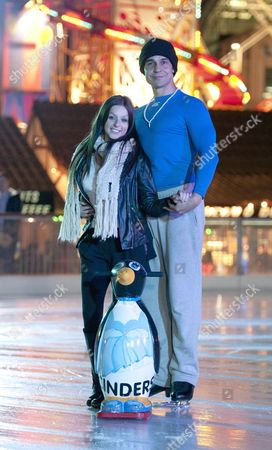 Editorial photo of Chico and Gemma Jones at the ice skating rink at the Waterfront Winterland, Swansea, Wales, Britain - 05 Dec 2012