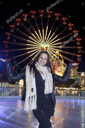 Editorial image of Chico and Gemma Jones at the ice skating rink at the Waterfront Winterland, Swansea, Wales, Britain - 05 Dec 2012