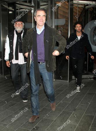 John Callen, James Nesbitt and Aidan Turner