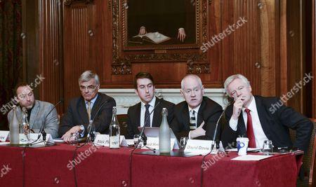 L-R: Jimmy Wales, Sir Chris Fox, Nick Pickles, Lord Macdonald, David Davis