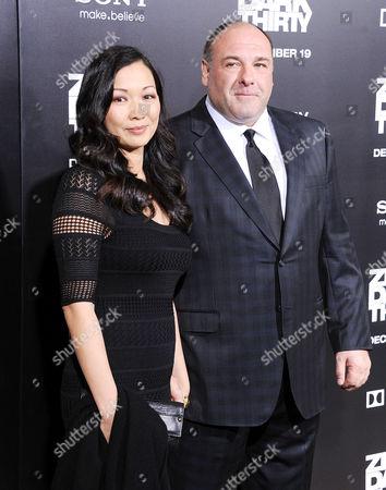 James Gandolfini and Deborah Lin